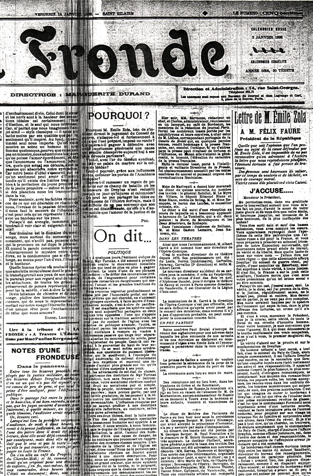 La Fronde - 14.1.1898